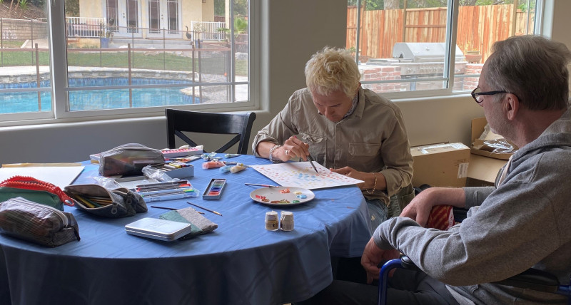 Artist With ALS Finds Collaborator, Friend, to Paint Through Disease